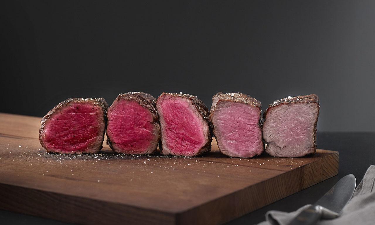 Степени прожарки мяса стейка