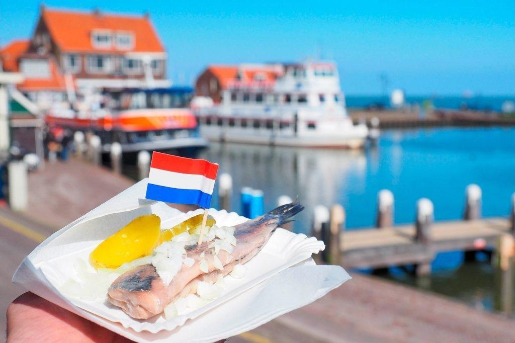 Уличная еда Нидерланды селедка
