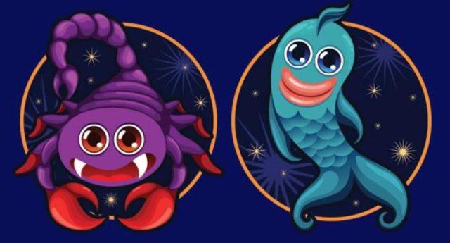 Совместимость знаков в любви и браке Скорпион и Рыбы