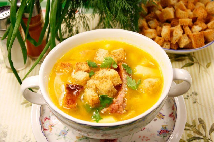 Рецепт горохового супа с копчеными ребрышками
