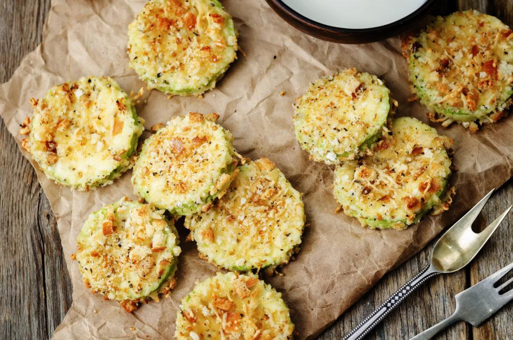 Хрустящие кабачки с сыром