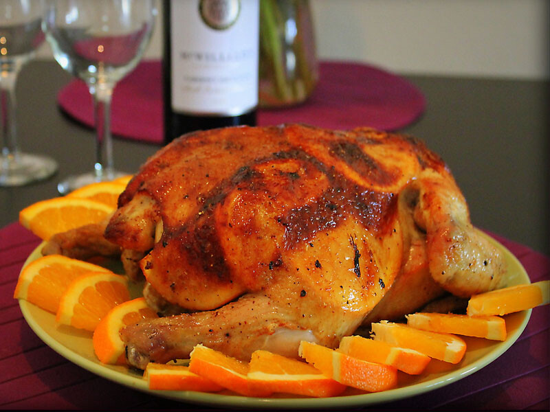 Курица с апельсинами в духовке, рецепт