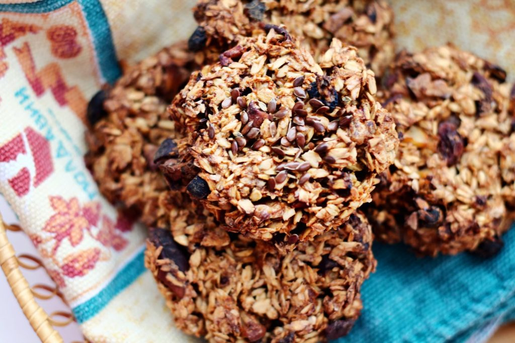 Овсяное печенье с семенами льна